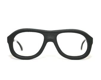 Marwitz Eyeglasses Awkward Rubber Foam Sports Rx Black Flexible Goggles Vintage New Old Stock FREE SHIPPING Men's Women's 52-28-130