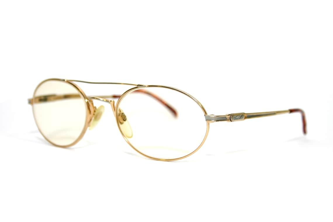 Davidoff Eyeglasses Pure Titanium Bugatti Style Men's Wide Oval FREE SHIPPING Medium 54-20-135 Gold Silver Aviator Classic Cars Granddaddy