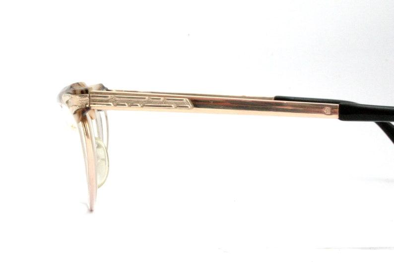 Marwitz Optima 60's Gold Filled Eyeglasses Horn Lady Brown Cat Eye Glasses FREE SHIPPING Women's Medium 52-18-135
