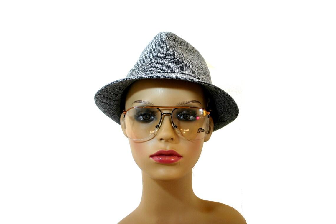 Perfect Aviator Eyeglasses 80's Black Half Rimmed Rimless Eye Glasses Men's FREE shipping Rx Aviator 54 56 18 135 140 Small Medium Large