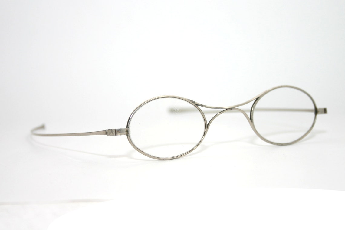 Antique Eye Glasses Pick your Prescription From -5 to +8 Nickel Turn of Century 1800's 1900's New Old Stock NOS Oval Eye Glasses