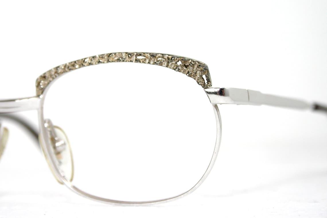 Eyeglasses 935 Sterling Silver Decoration Solid German Lava Vintage 1970's Extravagant Luxury FREE SHIPPING Women Medium 50-17-130