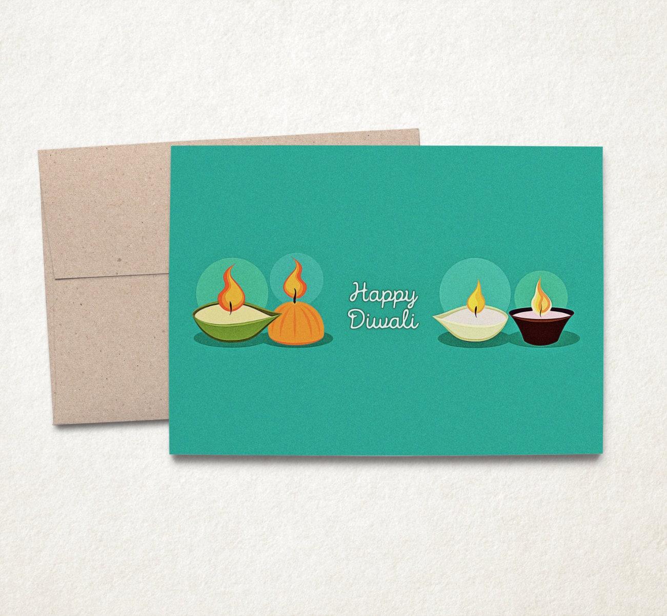Happy Diwali Diwali Cards Diwali Greeting Card Happy Diwali Etsy