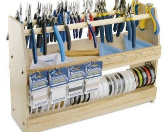 Beading Station Organizer for Pliers, Bead & Craft Supplies