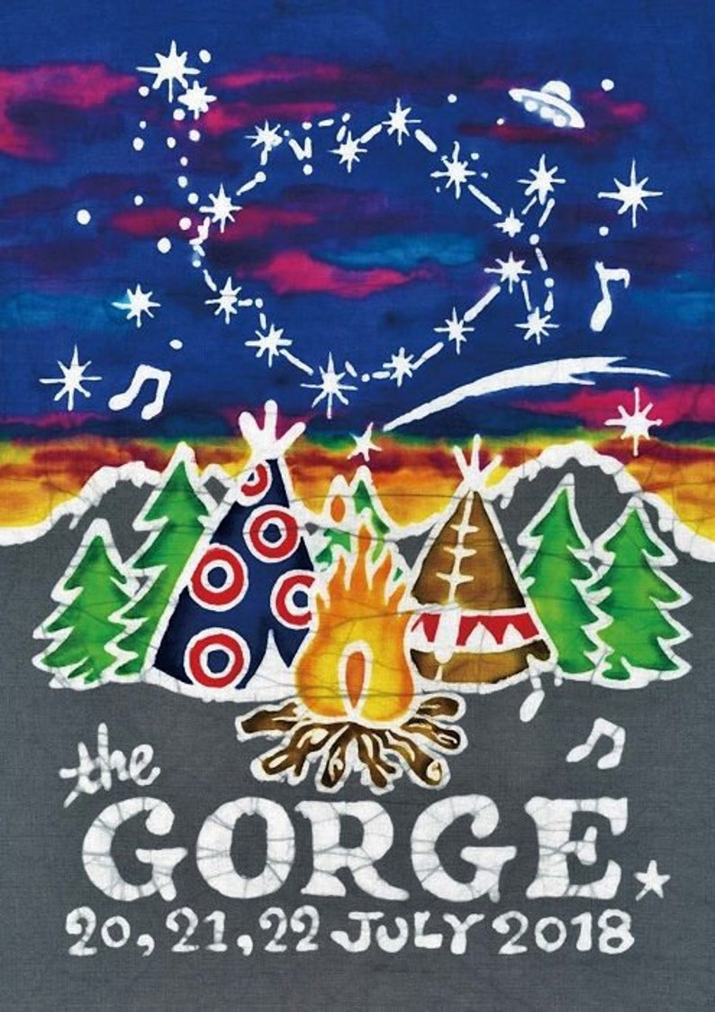 ec881e6ea1e PHISH at Gorge Amphitheate Washington 2018 Batik Print