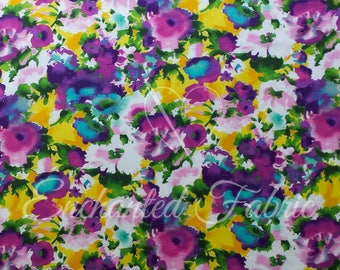 Beautiful Floral Pattern Woven Fabric for skirts, curtains, accent decorations, accent pillows, sarees and much more by the yard- 803 Floral