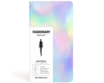 Fashion Designer SKETCHBOOK | Fashionary Mini | Neon Light Womens Sketchbook - Set of 3