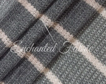 Gray and Blush Striped Open Knit Baby Wrap, Baby Props,Baby Backdrop Sweater Knit Fabric for Newborn Photography and Apparel- 218 Gray Blush