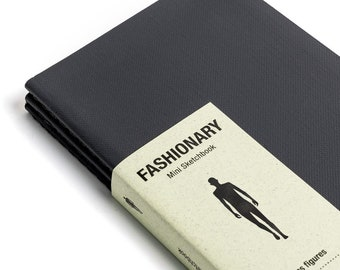 Fashion Designer SKETCHBOOK | Fashionary Mini | Men's Sketchbook - Set of 3 Black