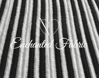 Black and White Rib Knit Fabric for Baby Wrap, Baby Props,Baby Backdrop Sweater Knit Fabric for Newborn Photography and Apparel - 205
