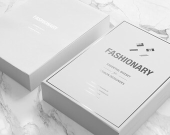 Fashion Designer SKETCHBOOK | Fashionary Essential Purewhite GIFT Boxset