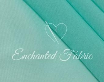 Sheer Prom and Wedding Bridal Dress Aqua Chiffon Fabric for Bridesmaid Dresses, Maternity Gowns, Dresses, Maxi Skirts and Apparel- 101 Aqua