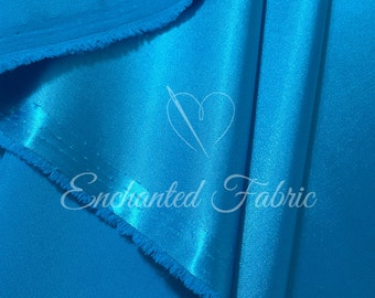 Cerulean blue Wedding Bridesmaid Dress Charmeuse Fabric for Prom, Bridesmaids Dresses, Party Decoration Fabric, Apparel, Prom Dresses - 1002