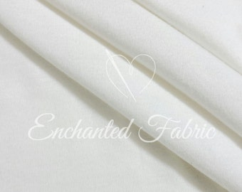 Viscose JERSEY KNIT FABRIC Medium Weight Jersey knit backdrop, Jersey knit fabric by the yard maternity dresses - 1401 Off White
