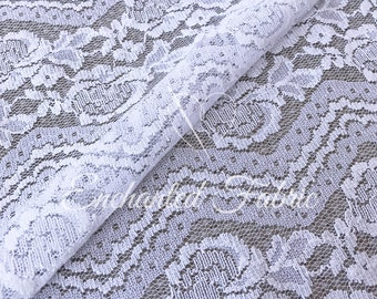 White Vintage Floral Lace | Bohemian Lace | Wedding Lace Fabric | Wedding Dresses | Bridesmaid Dress | Bridal Lace | 1318