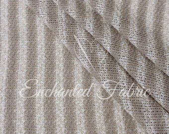 Mocha and Gold Striped Sweater knit with Lurex for Baby Wrap, Baby Props,Baby Backdrop, Newborn Photography and Apparel - 201 Mocha Gold