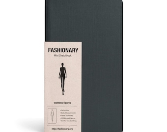 Fashion Designer SKETCHBOOK GIFT | Fashionary Mini | Women's Sketchbook - Set of 3 Black