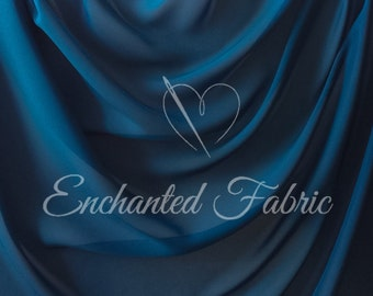 Prom and Wedding Bridal Dress Teal Chiffon Fabric for Bridesmaid Dresses, Maternity Gowns, Dresses, Maxi Skirts and Apparel- 1 Yard 100 Teal