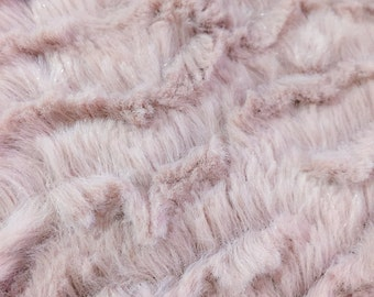 Mauve Faux Fur Fabric for Baby Photo Prop | Basket Stuffer | Photography Prop Blanket | Photo Backdrop -701
