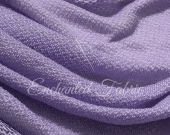Textured Stretchy Sweater Knit Fabric | Ready To Ship - 223 Lavender
