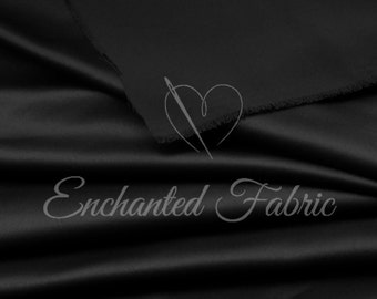 Wedding Bridesmaid Dress Black Bridal Satin Fabric for Prom and Bridesmaids Dresses, Party Decoration Fabric, Apparel, Prom Dresses  - 1101