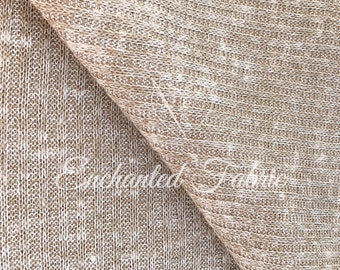 Mocha 2 Tone Stretch Rib Knit Fabric for Apparel, Baby Props, Baby Backdrop Sweater Knit Fabric for Newborn Photography and Apparel - 205