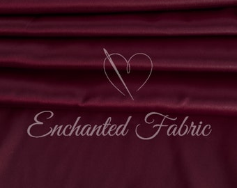Wedding Bridesmaid Dress Burgundy Charmeuse Fabric for Prom and Bridesmaids Dresses, Party Decoration Fabric, Apparel, Prom Dresses  - 1002