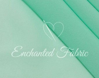 Sheer Prom and Wedding Bridal Dress Chiffon Fabric for Bridesmaid Dresses, Maternity Gowns, Dresses, Maxi Skirts and Apparel- 101 Green Mint