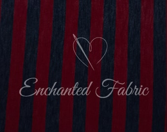 """Red and Navy 1"""" Striped Slub Rayon Jersey Knit Fabric for Baby Wrap, Baby Backdrop Sweater Knit for Newborn Photography and Apparel - 208"""