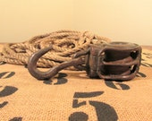 Iron Pulley with Hook, Heavy Duty Barn Pulley