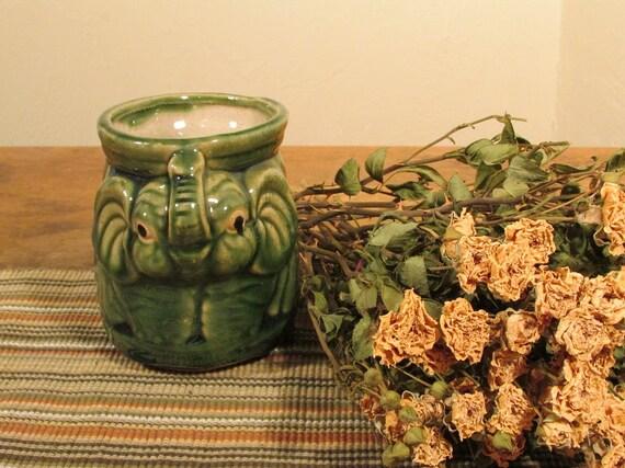 Ceramic Elephant Planter Vintage Elephant Vase Whimsical Etsy