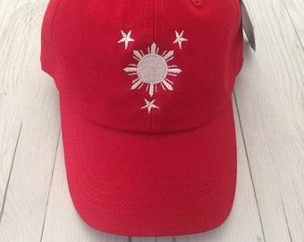 Learned Unisex Tribal Philippines Filipino Sun And Stars Flag Baseball Hat Cotton Trucker Hat Men's Hats