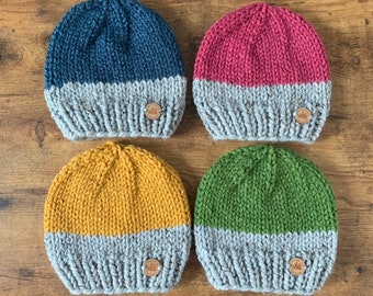 brand new 541ac e93e6 Handmade Knit Hat - Choose your color - Chunky Beanie - Child Hat - Knitted  Hat - Winter Hat - Handmade Beanie - Toddler Hat - Kids Hat