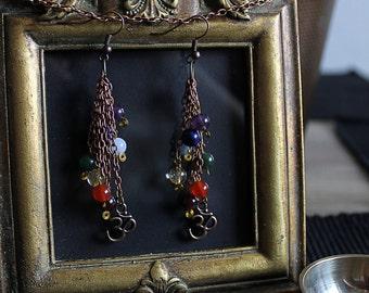 Chakra Earrings with Om Charm