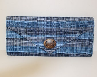 Guatemalan Handmade Envelope Clutch Recycled Accessory Authentic Eco-Friendly