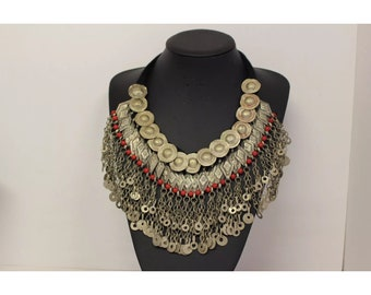 Afghan Big Chunky Statement Necklace Traditional Tribal Fashion Accessories