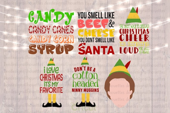 Cricut Only Elf Pack Of 60 Buddy The Elf Movie Quotes Etsy Fascinating Elf Quotes