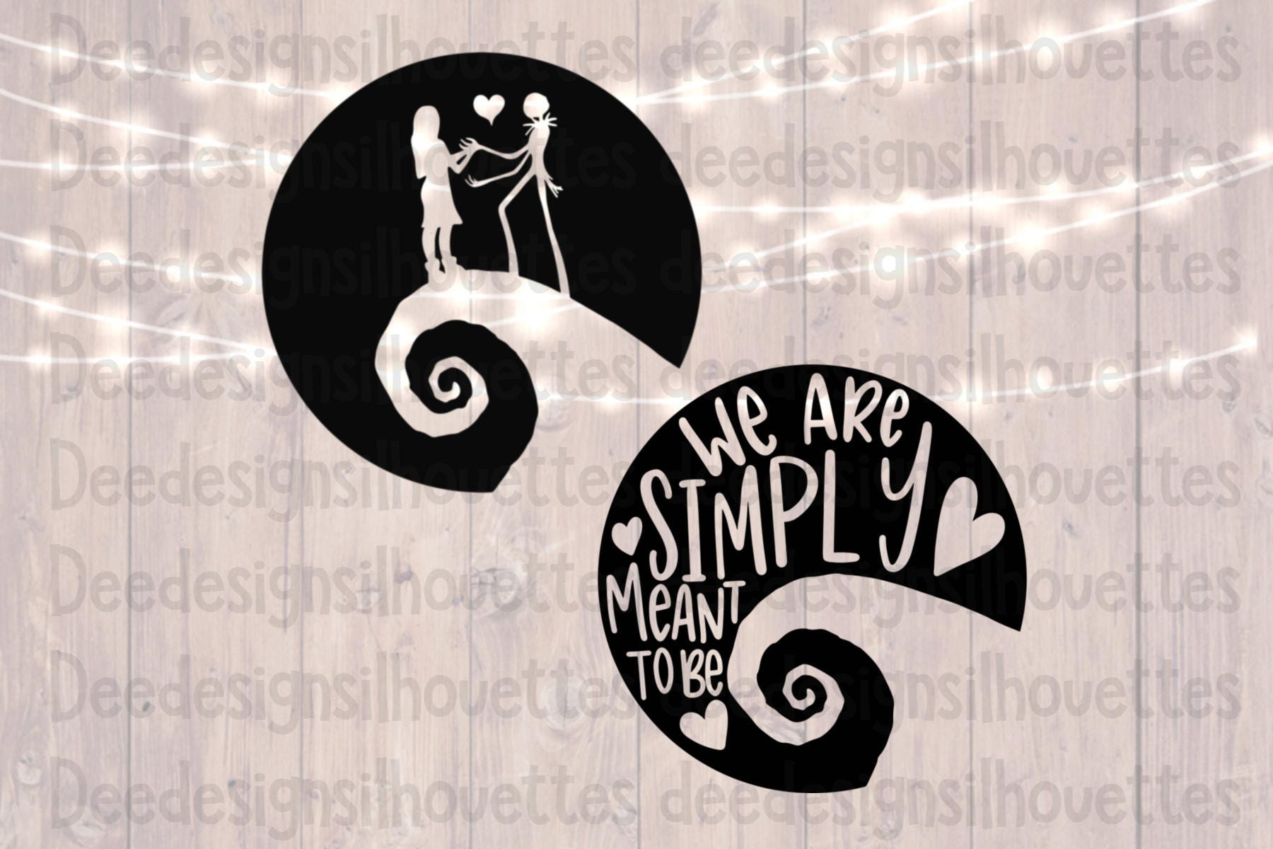 Nightmare Before Christmas Sally and Jack We Are Simply Meant   Etsy