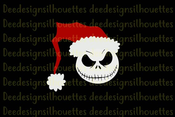 Cricut Only Jack Skellington Santa The Nightmare Before Etsy