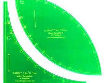 Cutrite Slit N Sew 9in Finished Melon - Quilting Templates