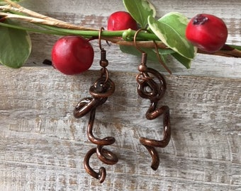 Grapevine tendril lightweight earrings, Natural earrings, Unique earrings, Hand made earrings 11