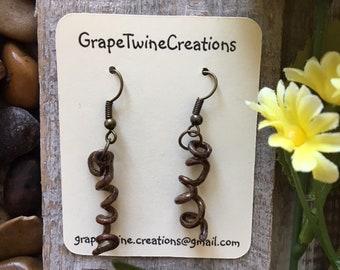 Grapevine tendril lightweight earrings, Natural earrings, Unique earrings, Hand made earrings 4