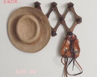 Vintage Wooden Accordion hanging Rack