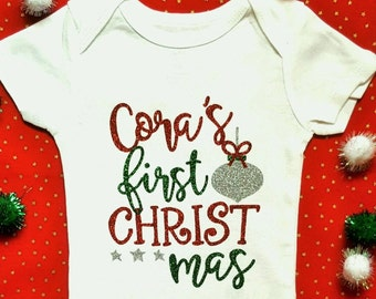 Christmas Outfit || My First Christmas Outfit Girl | baby girl clothes my 1st Christmas shirt first newborn baby girl outfit gift bodysuit
