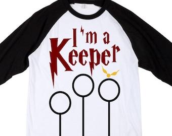 Harry Potter Shirt || I'm a Keeper | Quidditch gryffindor shirt wizard shirt muggle bodysuit gryffindor outfit