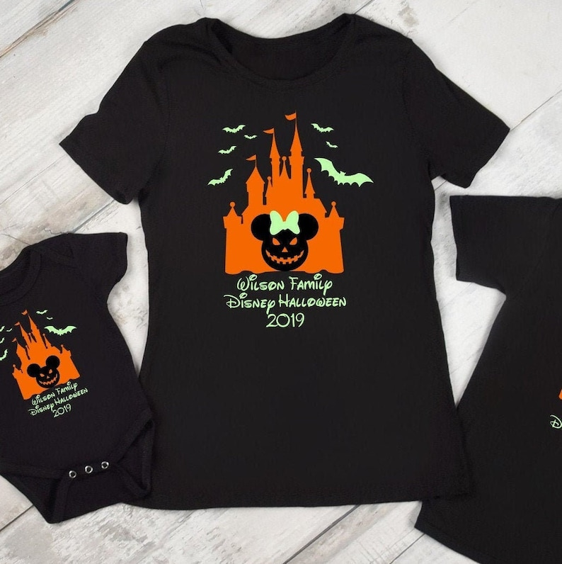 Disney Halloween Shirts 2019.Disney Halloween Shirts Family Vacation 2019 Glow In The Dark Tees