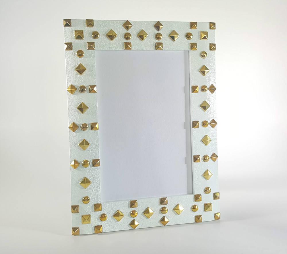 Cuadro blanco marco - cuadro de 4 x 6 - marco de foto tachas ...