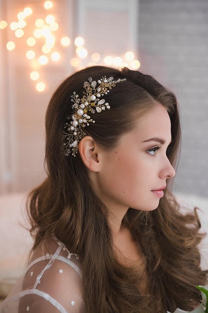 beautiful elegant wedding silver tone bridal hair comb hair accessories ha121817