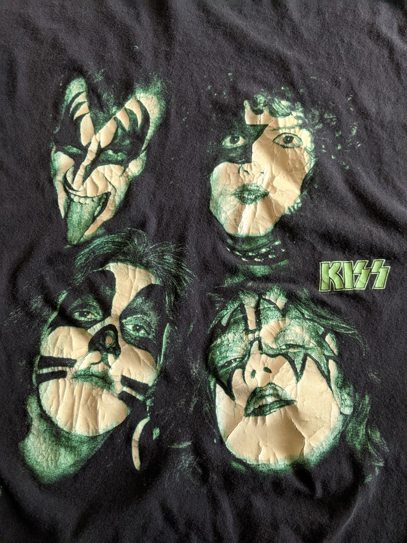 Pre-Owned 1996 KISS Vintage Glow-in-the-Dark Shirt XL