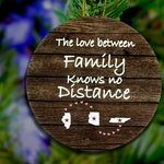 Ornament 3 states Family ornament, Long Distance Family, Three states Gift,States Ornament,Any State, Custom Ornament, Family Ornament, Wood